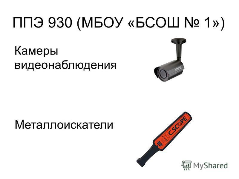 ППЭ 930 (МБОУ «БСОШ 1») Камеры видеонаблюдения Металлоискатели
