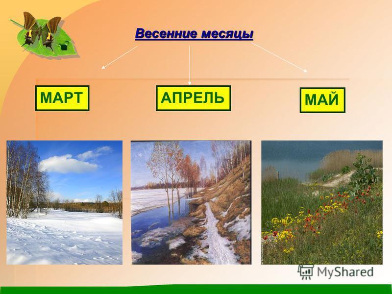 . МАРТАПРЕЛЬ МАЙ Весенние месяцы