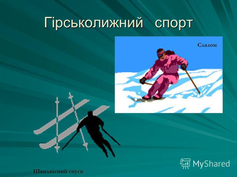 Гірськолижний спорт Слалом Швидкісний спуск