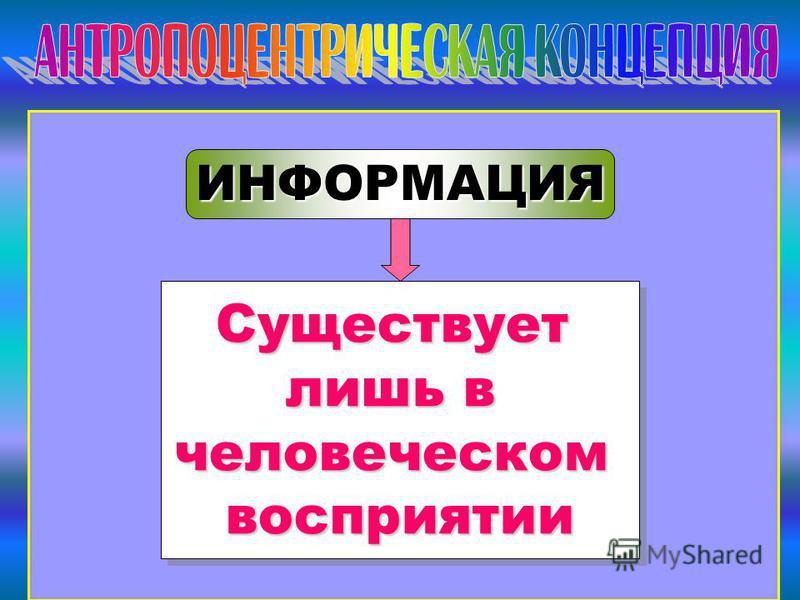 Автор: Газизова Л.Р., МОУ СОШ 9, Ульяновск ИНФОРМАЦИЯ Существует лишь в человеческом восприятии Существует человеческом восприятии