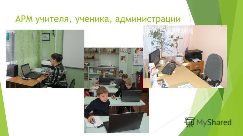 АРМ учителя, ученика, администрации