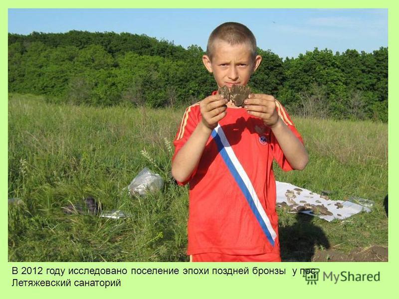 В 2012 году исследовано поселение эпохи поздней бронзы у пос. Летяжевский санаторий
