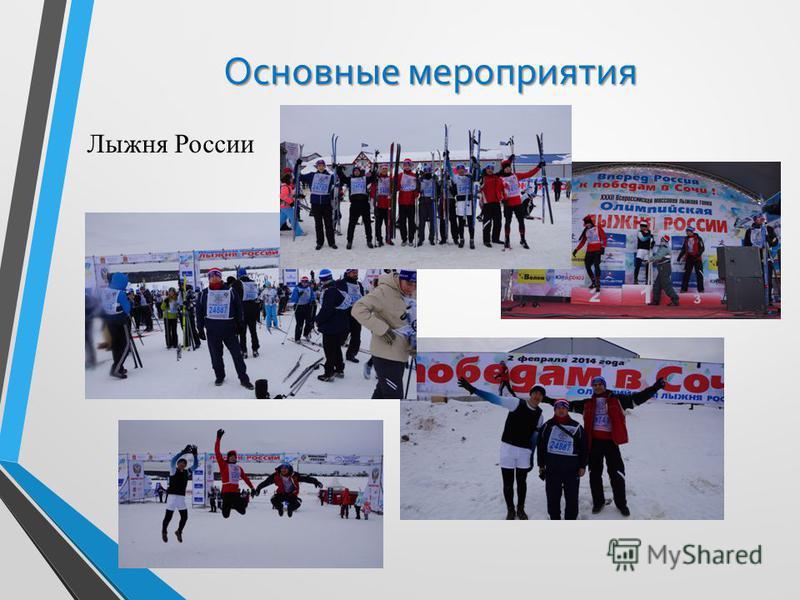 Основные мероприятия Лыжня России