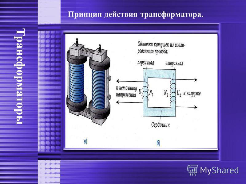 Трансформаторы Принцип действия трансформатора.