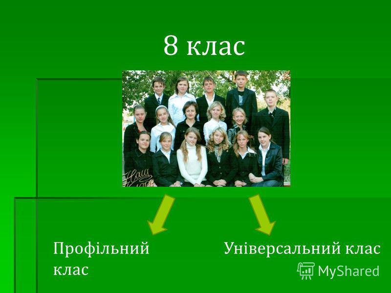 8 клас Профільний клас Універсальний клас