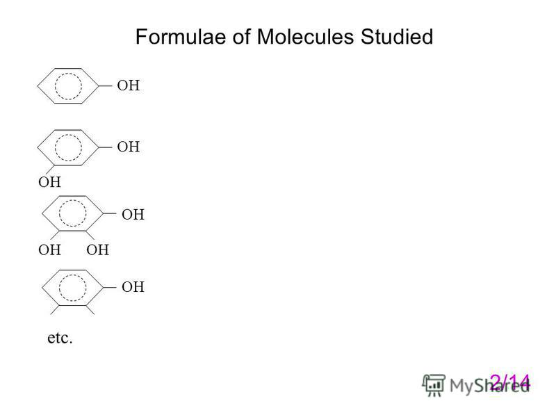 Formulae of Molecules Studied 2/14 OH etc.