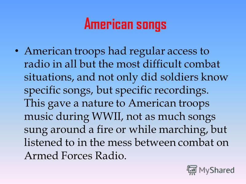 an analysis of american troops