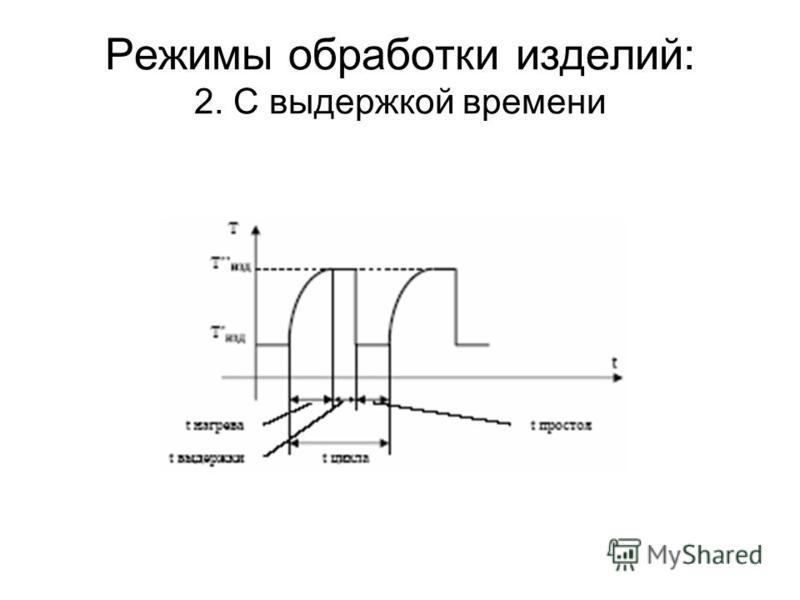 Режимы обработки изделий: 2. С выдержкой времени
