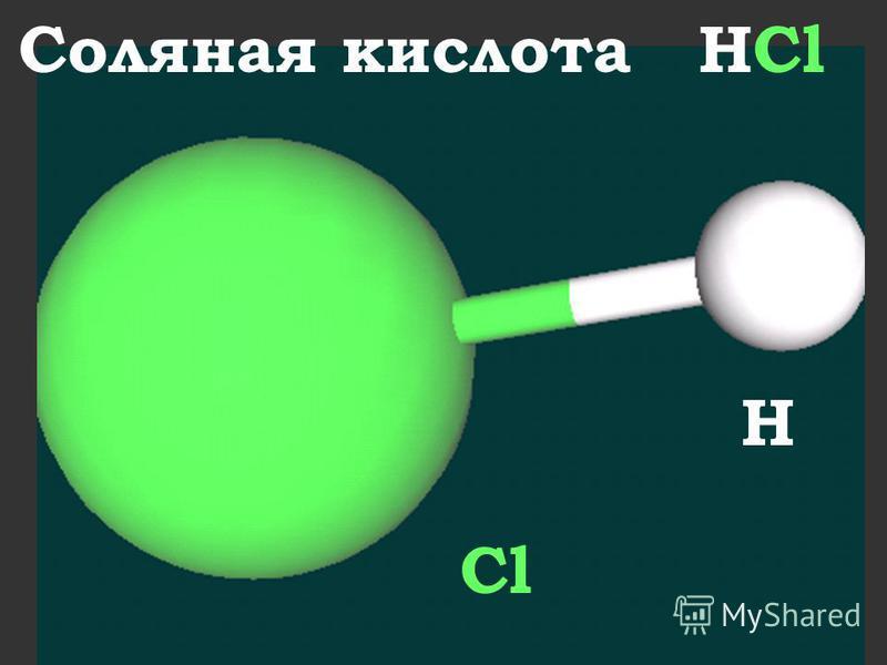 Соляная кислота HCl Cl H