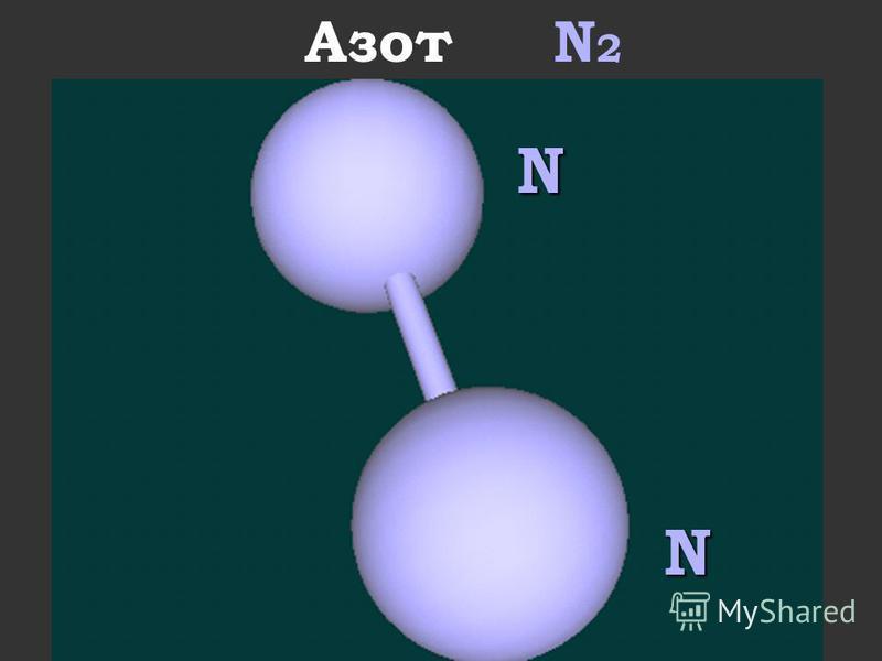 Азот N 2N N