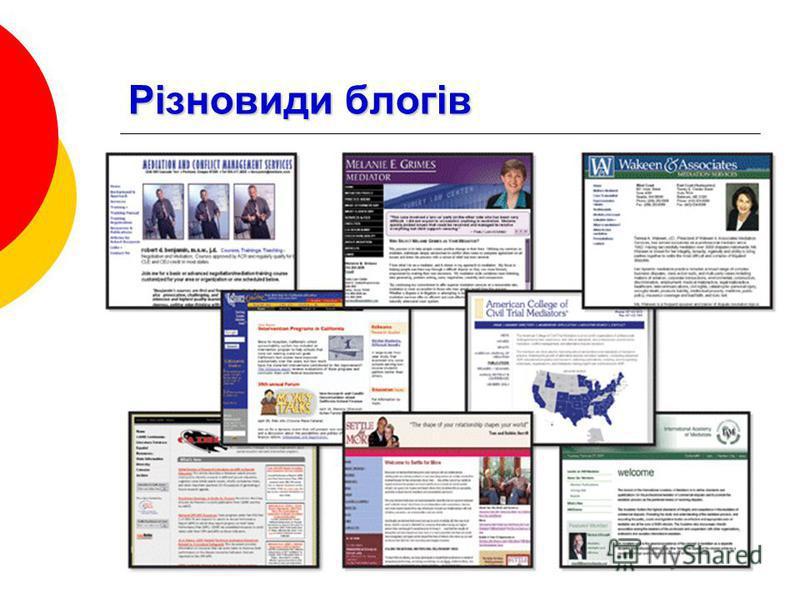 Різновиди блогів