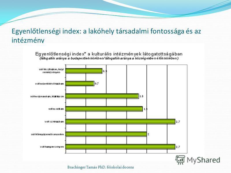 Egyenlőtlenségi index: a lakóhely társadalmi fontossága és az intézmény Brachinger Tamás PhD. főiskolai docens