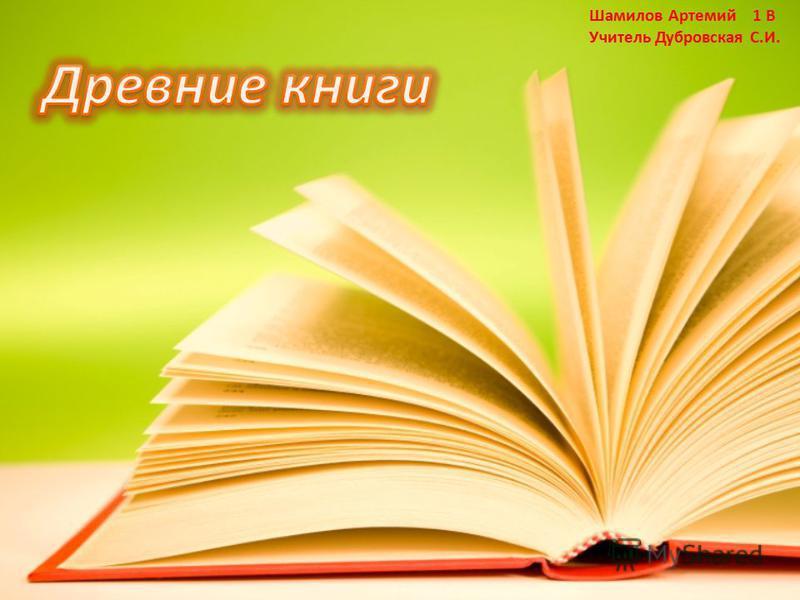 Шамилов Артемий 1 В Учитель Дубровская С.И.