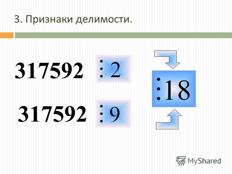 3. Признаки делимости. 317592