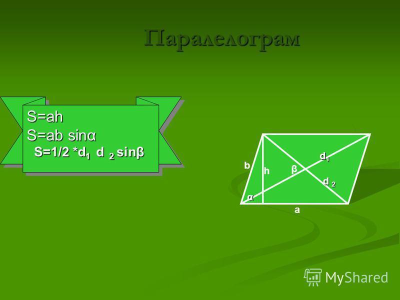 Довільний трикутник b c a h α S=1/2ah S=1/2absinα S=(p(p-a)(p-b)(p-c))p=(a+b+c)/2