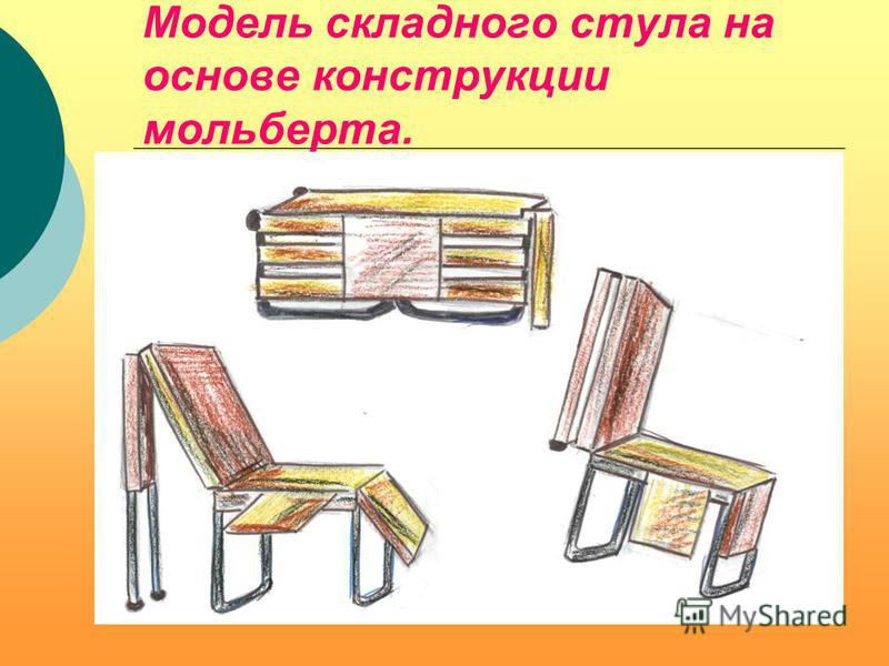 Модели складных стульев