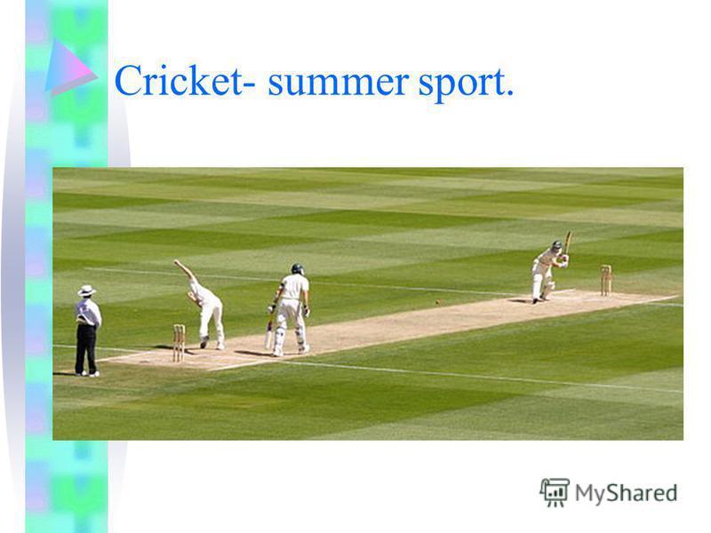 Cricket- summer sport.