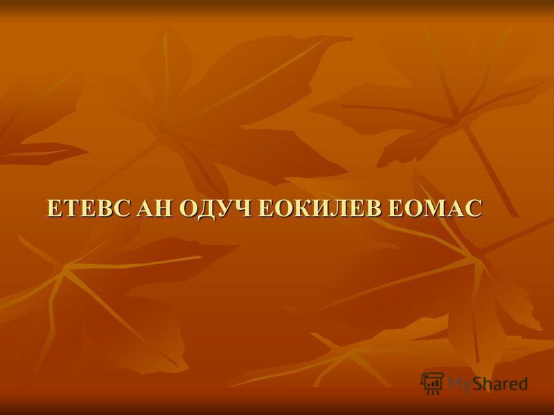ЕТЕВС АН ОДУЧ ЕОКИЛЕВ ЕОМАС