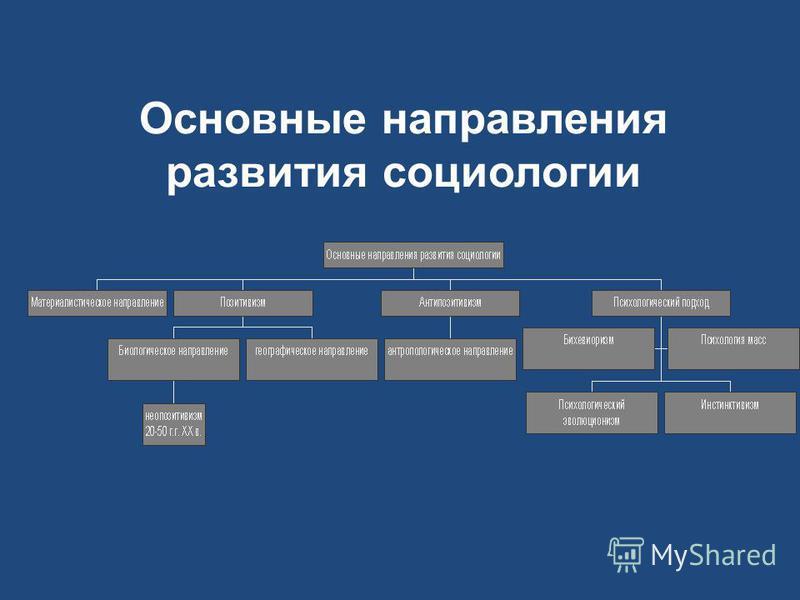 Основные направления развития социологии