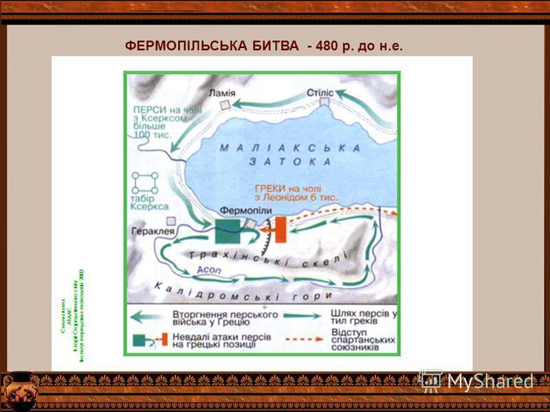 ФЕРМОПІЛЬСЬКА БИТВА - 480 р. до н.е.