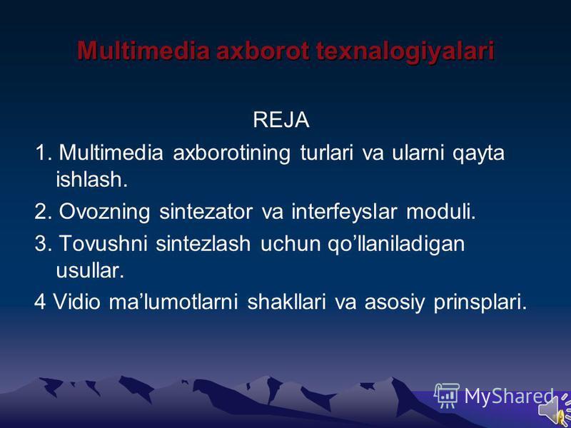 Informatika fanidan prezentatsiya Tekshirdi : Bajardi: