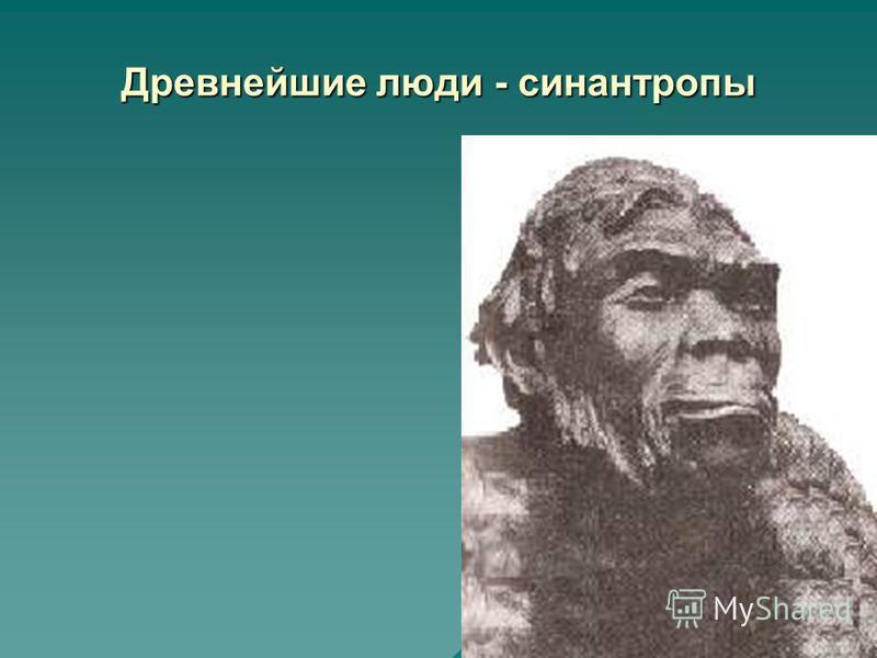 Древнейшие люди - синантропы