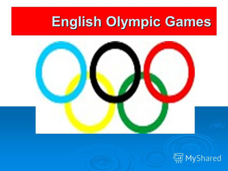 English Olympic Games English Olympic Games