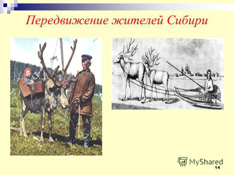 14 Передвижение жителей Сибири