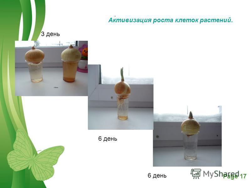 Free Powerpoint TemplatesPage 17 3 день Выво д: 6 день. Активизация роста клеток растений.