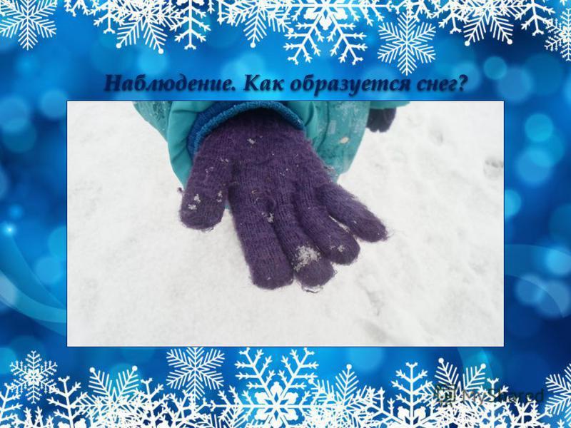 Наблюдение. Как образуется снег?