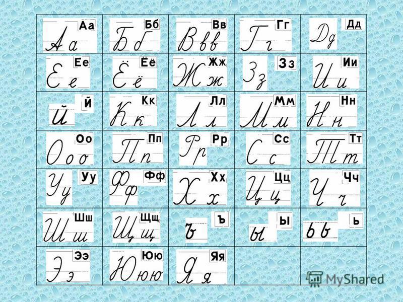 Русский Алфавит Печатные Прописные Буквы