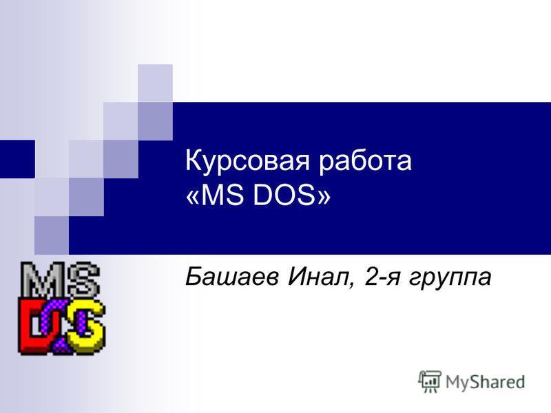 Курсовая работа «MS DOS» Башаев Инал, 2-я группа