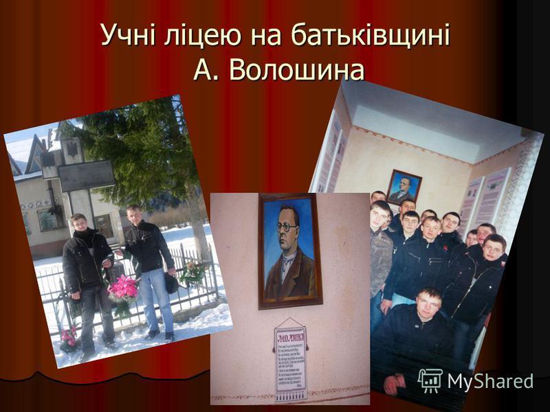 Учні ліцею на батьківщині А. Волошина