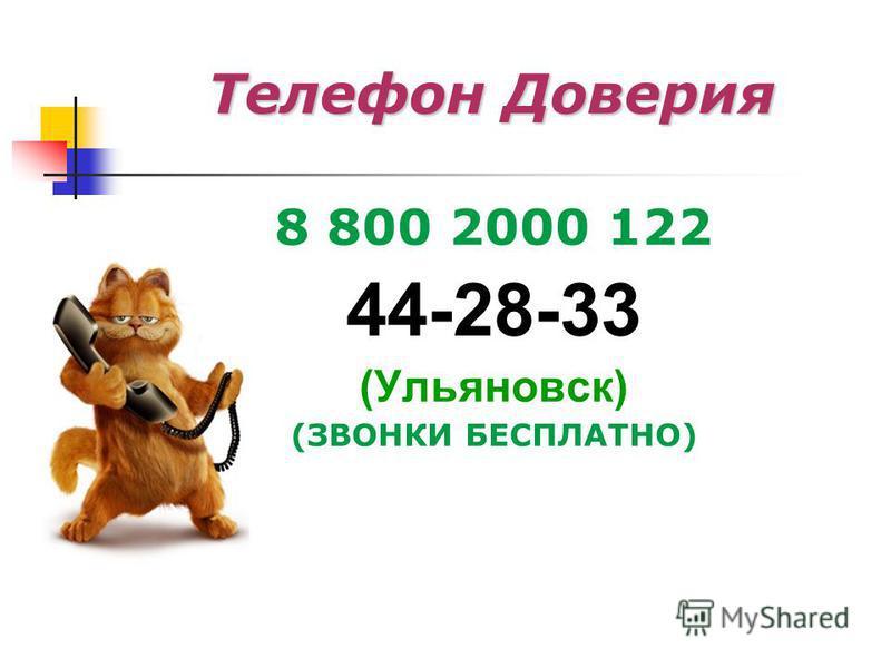 Телефон Доверия 8 800 2000 122 44-28-33 (Ульяновск) (ЗВОНКИ БЕСПЛАТНО)