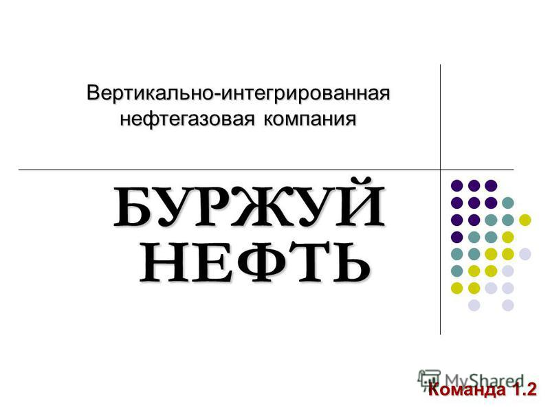 НЕФТЬ БУРЖУЙ Вертикально-интегрированная нефтегазовая компания Команда 1.2