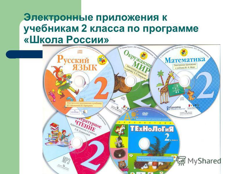 Электронные приложения к учебникам 2 класса по программе «Школа России»