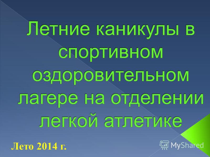 Лето 2014 г.