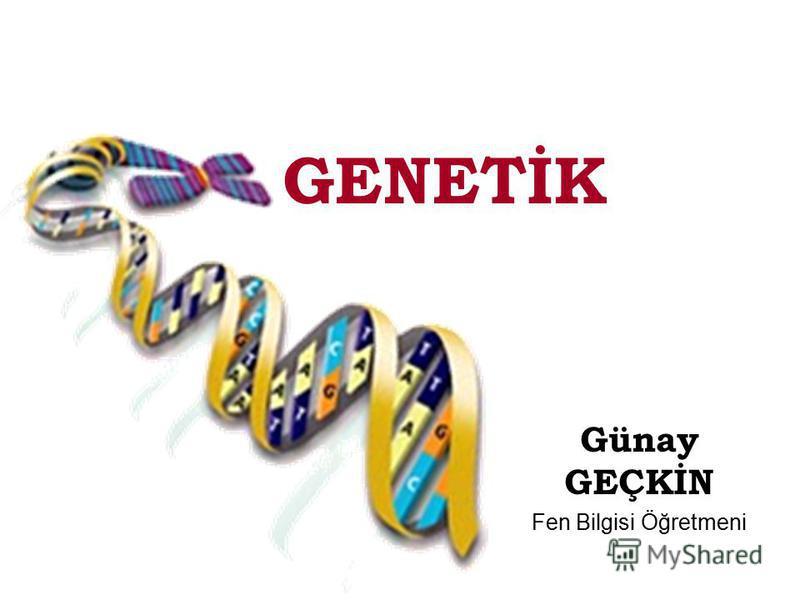 GENETİK Günay GEÇKİN Fen Bilgisi Öğretmeni