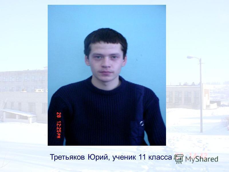 Третьяков Юрий, ученик 11 класса