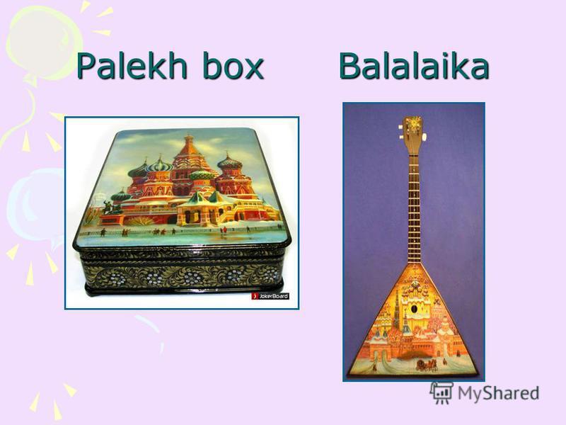 Palekh box Balalaika
