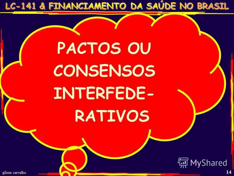 gilson carvalho 14 PACTOS OU CONSENSOS INTERFEDE- RATIVOS