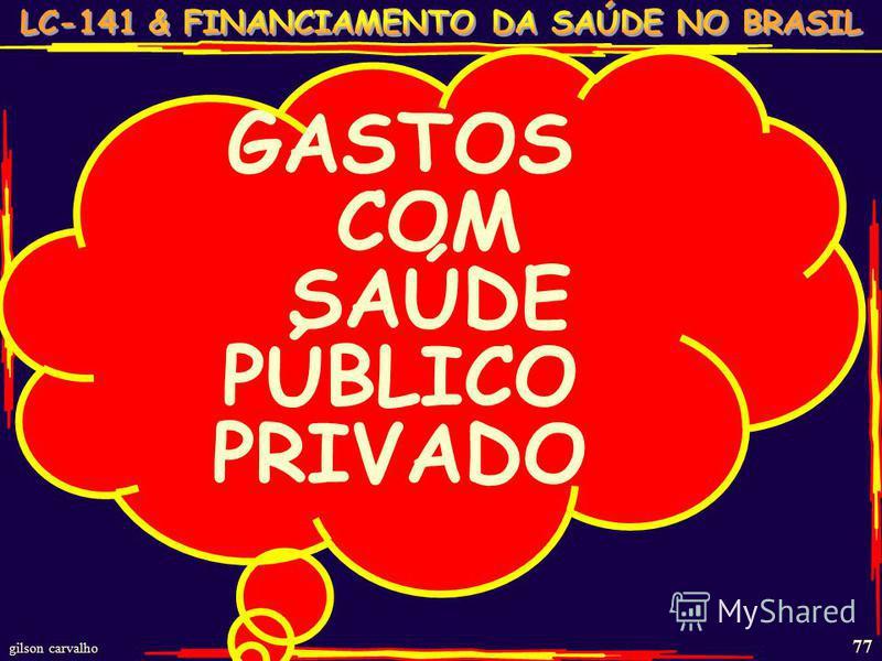 gilson carvalho 77 GASTOS COM SAÚDE PÚBLICO PRIVADO