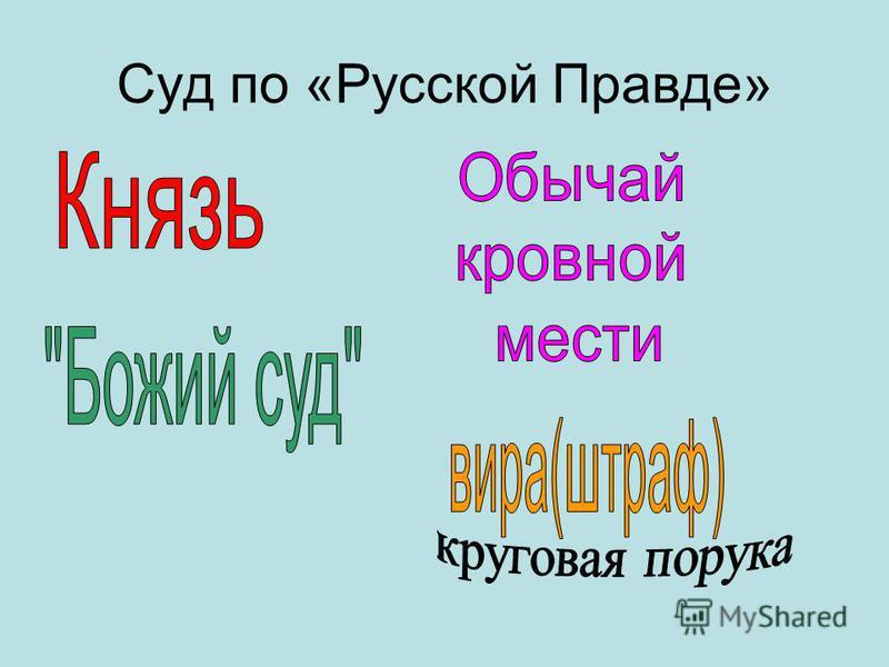 Суд по «Русской Правде»
