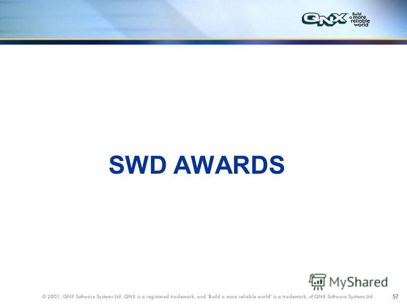 57 SWD AWARDS