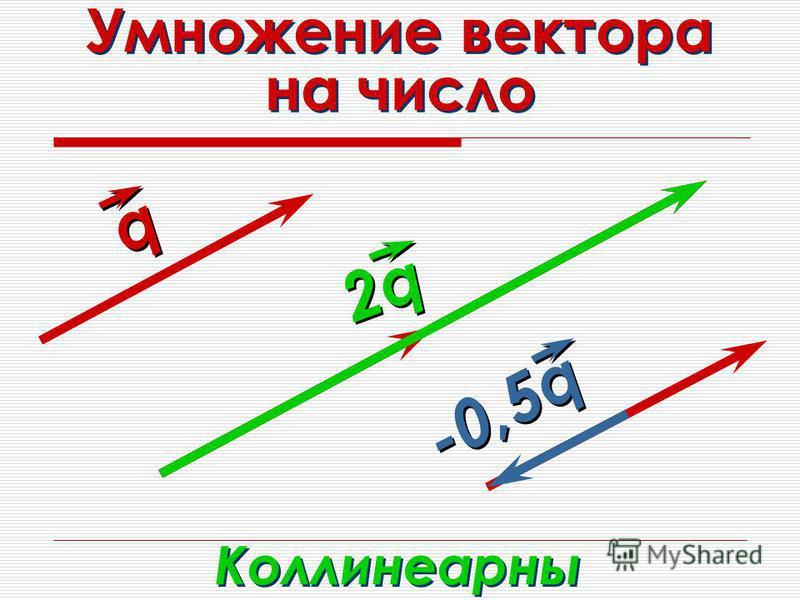Умножение вектора на число q q 2q2q 2q2q -0,5q Коллинеарны