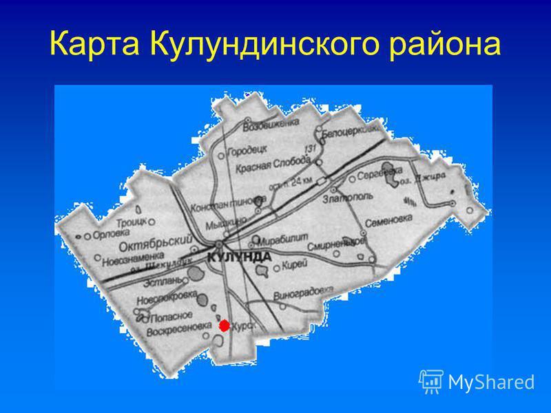 Карта Кулундинского района