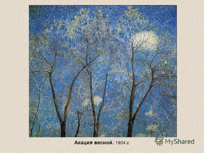 Акация весной. 1904 г.
