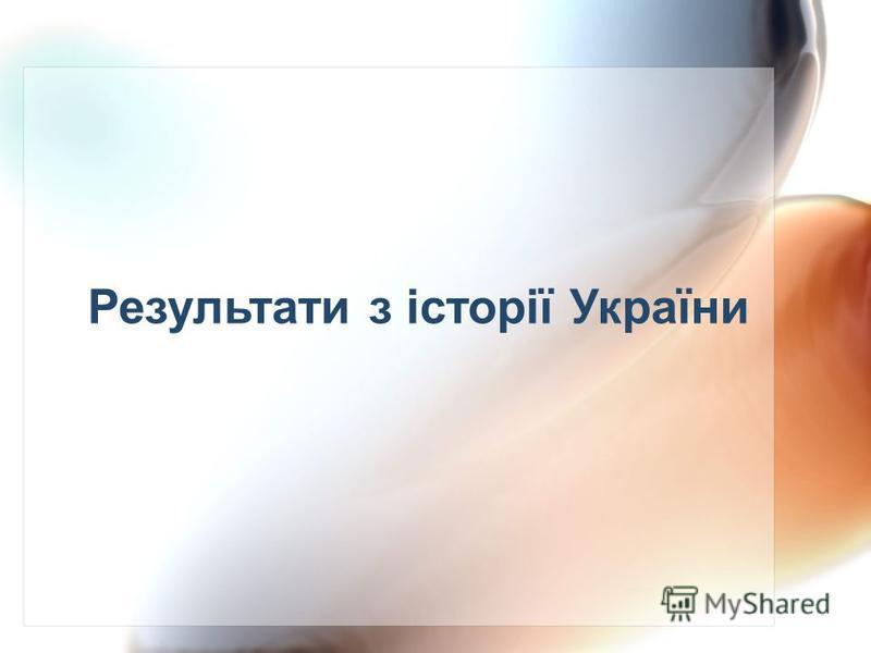 Результати з історії України