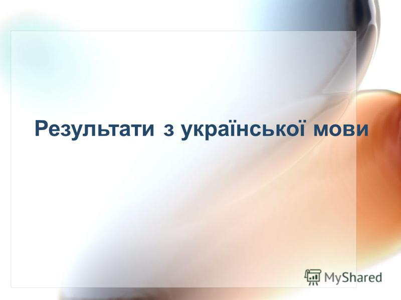 Результати з української мови