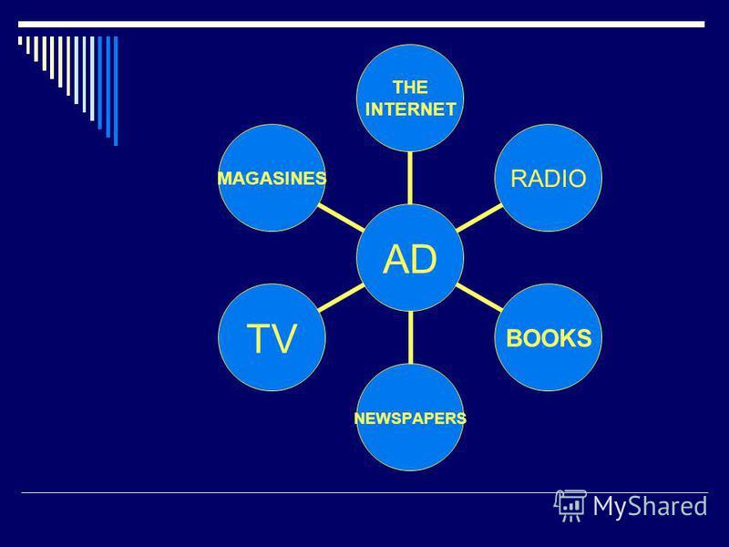 AD THE INTERNET RADIOBOOKSNEWSPAPERSTVMAGASINES